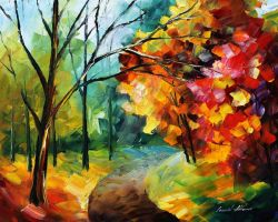 Around the autumn by Leonid Afremov by Leonidafremov