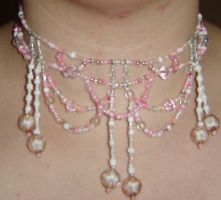 Pink necklace by ammajiger