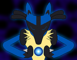 Lucario used Aura Sphere! by Tainted-Fire