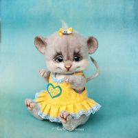 SOLD Needle felted mouse Lucy by trinnytoy