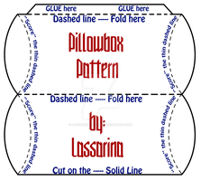 Pillow box pattern-PRINT THIS by Lassarina-Jewelry