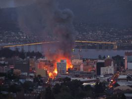 Hobart Burning by cherrydelight
