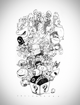Ink 26 Super Mario world by Dragoreon