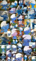 Clumsy Smurf Collage by AngryScottishBurd