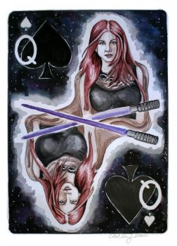 Mara Jade, Queen of Spades by watchherpaint
