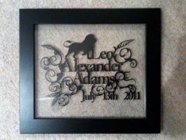 Leo Adams Birth Papercut by ladysilver2267