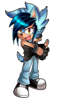 ::G:: aqua the hedgehog by Xalisha-light-azureX