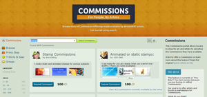 Commissions Portal: Grid-view Suggestion by bradleysays