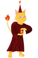 Kitty Wizard by 88angryoctopus88