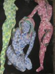 three graces in scatchy colours by warnertoddjames