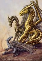 Three Dragons by Wardem