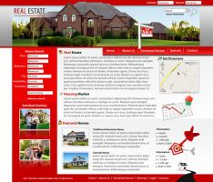 Real Estate Website Mockup by dhrandy