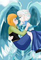 ElsAnna - Frozen - Knight in Shining Armor by Shizuru1412