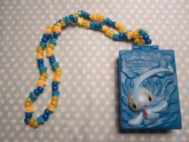 Pokemon Manaphy Kandi Necklace by colbyjackchz