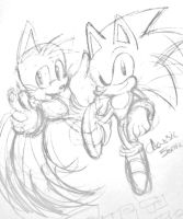 CONTEST TIME Classic Sonic and Tails ( COLOR THIS by Zubwayori