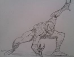 Spider-man pencil sketch by DustyPaintbrush