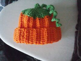 Crochet Pumkin hat by LilliM00