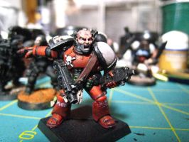 Blood Raven Space Marine Sarge by Kufspawn