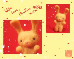 Needle Felted Min Tim Bunny by xXScarletButterflyXx