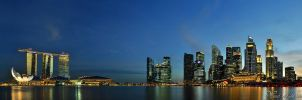 Singapore - Panorama I by AlHabshi