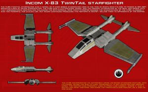 X-38 Twintail starfighter ortho [2][New] by unusualsuspex