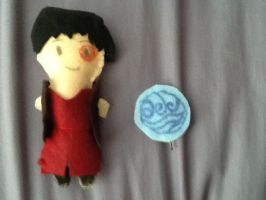 Zuko Plushie and Water Nation Hairpin by jessi201