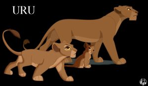 Uru cub and adult by dyb