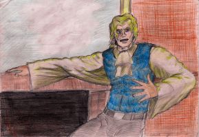 Lestat at a fireplace by lordofpencil