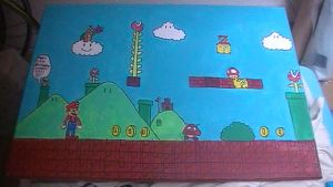 Super Mario Bros 25th anniversary painting by Chaoslink1