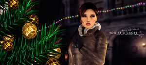 Lara Croft Tomb Raider - Merry Christmas by FearEffectInferno