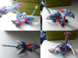Modular origami dragon by SouloftheSky
