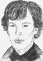 Benedict Cumberbatch as Sherlock Holmes by diamar86