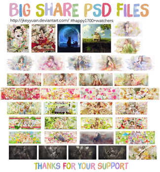 [BIG SHARE PSD #2] HAPPY 1700+ Watchers by JKeyYuan