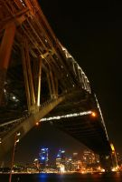 Sydney Harbour Bridge at Night by jquilt