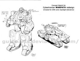 Warpath Cybertronian design by GuidoGuidi