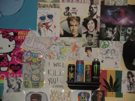 My collage on my wall by changeinbloom
