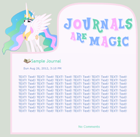 Journals Are Magic - Celestia by CassidyCreations