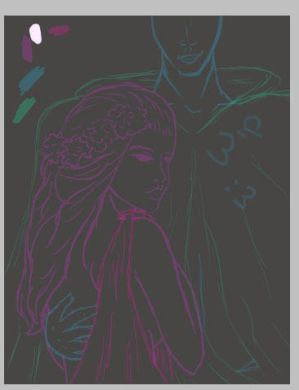 Persephone and Hades WIP1