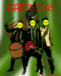 Green Day Abstract. by AshleePevensey