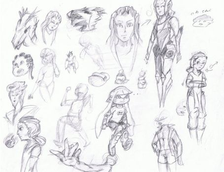 Sketches (5/6/2015) by TezarroEX