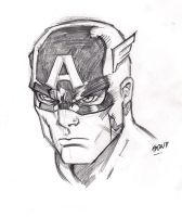 Captain America Face by pollomaxx