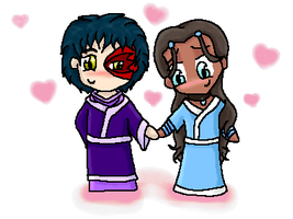 Zuko and Katara Chibi-Love by CartoonJessie