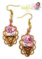 Vintage Ice Cream Earrings by colourful-blossom