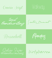 Fonts Pack #004 by its-LostGirl-drt