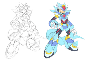 (WIP) Mega Man X - (Fusion) - Blizzard Wolfang by V-a-a-N