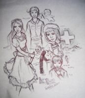 Hetalia Doodles by Kaelir-of-lorien