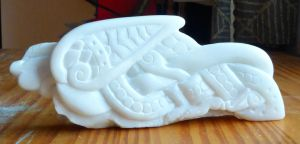 Soapstone Carving II celtic bird by Feivelyn