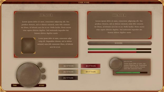 Medieval GUI by FIRSTxAIDxKIT