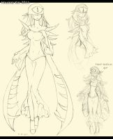 GE: Zygote Personification Sketch by HoumeiKin