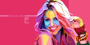 Shakira in WPAP by toniagustian